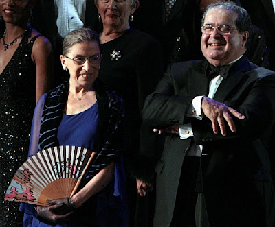 Antonin Scalia with Ruth Bader Ginsburg