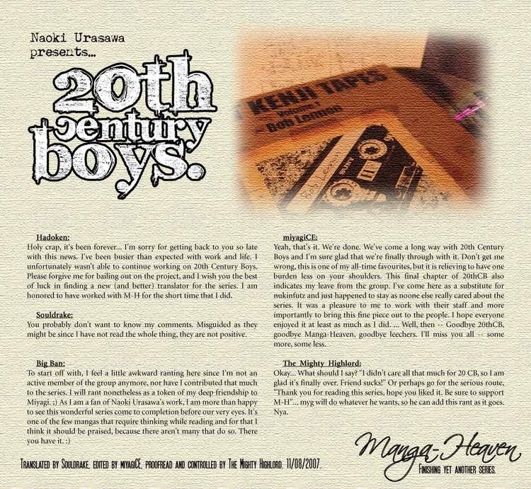 Những Chàng Trai Thế Kỉ 20 Chap 249 . Next Chap 250