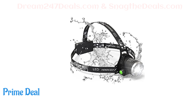 Headlamp, Sungluber 3 Modes Super Bright LED Headlight 60% OFF