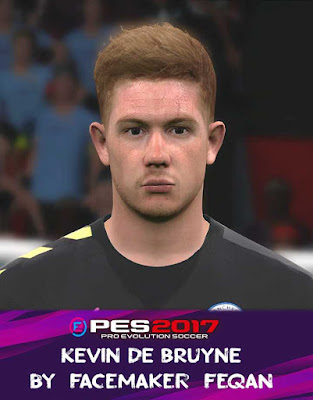 Kevin De Bruyne Face Pes 2017 by Feqan
