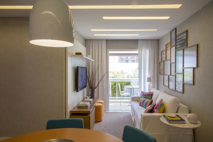 Gesso Para Sala De Jantar E Estar ~ Pequenas salas de estar e jantar integradas!  Jeito de Casa  Blog de