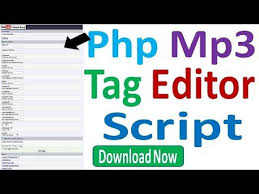 Wordpress Mp3 tag Editor Script with voice mix Free Download