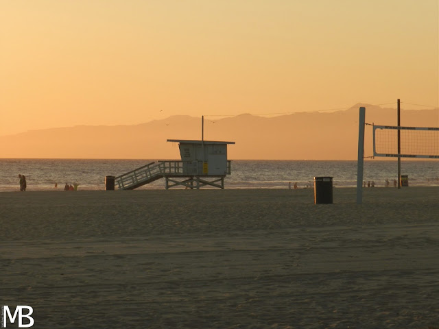 tramonto santa monica beach los angeles california