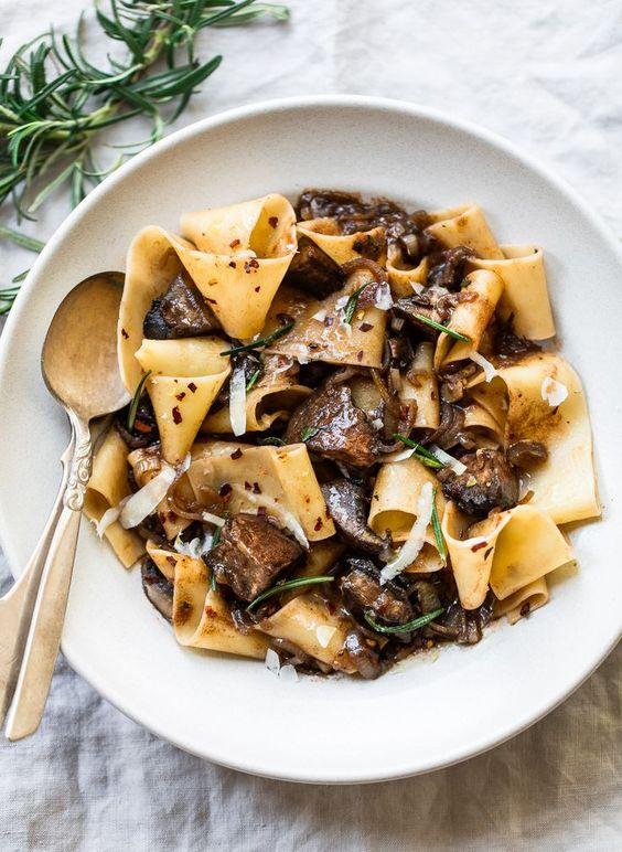 Pappardelle Pasta with Portobello Mushroom Sauce Recipe