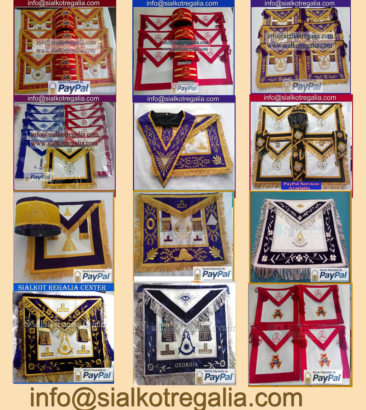Sialkot Regalia Center : Masonic Working Tools Apron