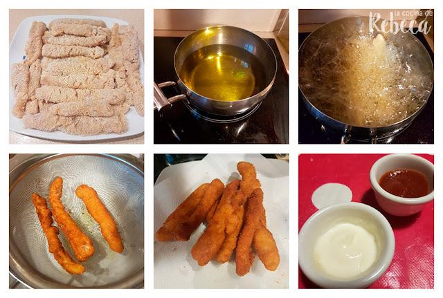 Receta de fingers de pollo: fritura