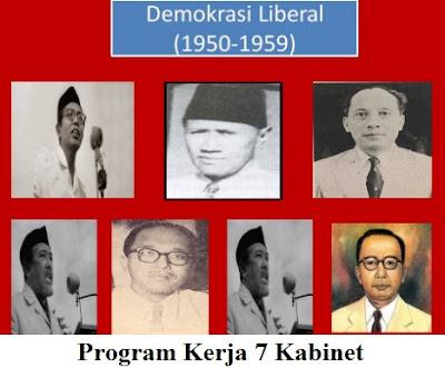 [Lengkap] Program Kerja 7 Kabinet Pada Masa Demokrasi Liberal Indonesia