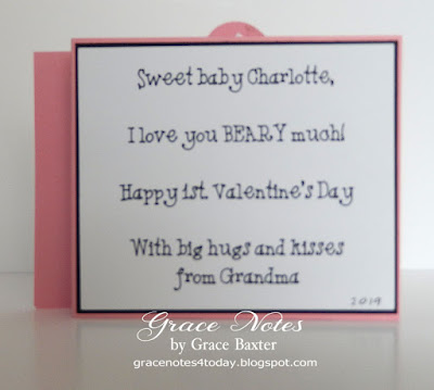 baby's 1st valentine, wiper action card, verse. By Grace Baxter