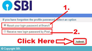 how to reset sbi corporate internet banking password