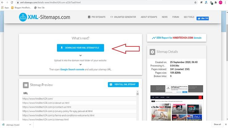 Blog Ka Sitemap Kaise Banaye? | अपने ब्लॉग का Sitemap कैसे बनाये?