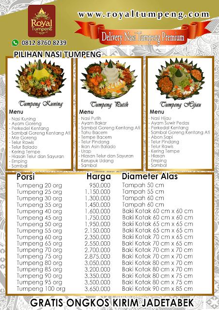 pesan nasi tumpeng