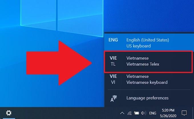 Cách kích hoạt bộ gõ Telex tiếng Việt sẵn có của Windows 10