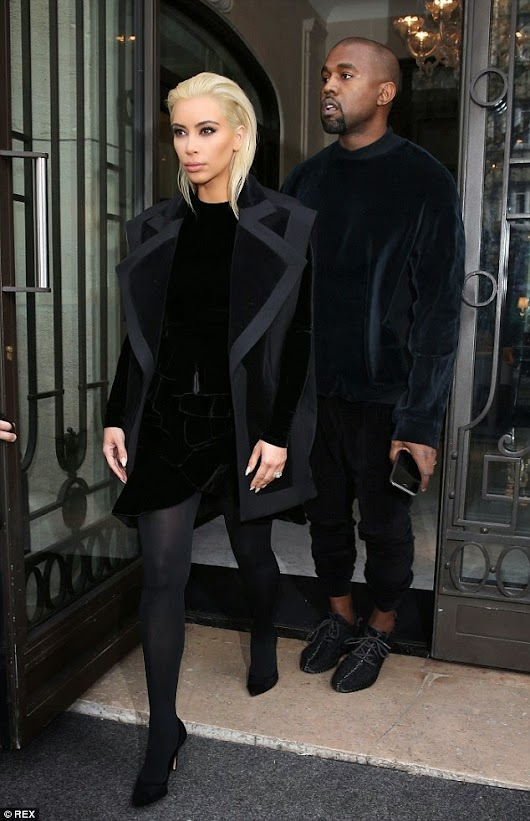 Kim Kardashian's Shows Off Her New Look As She Steps Out In Paris