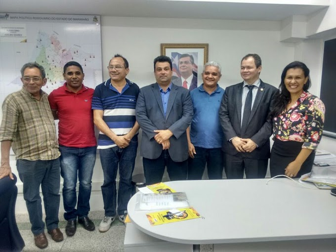 Secretario Adelmo Soares recebe comitiva de Coelho Neto