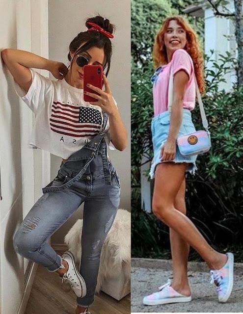 Looks inspiração com t-shirt, Agatha Braga, Bruna Vieira