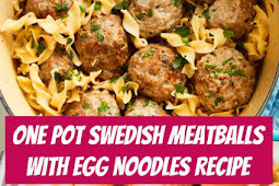 One Pot Swedish Meatballs with Egg Noodles #meatballs #swedish #dinner #comfortfood
