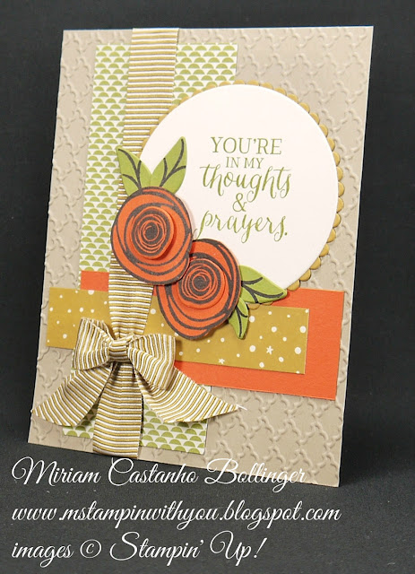 Miriam Castanho-Bollinger, #mstampinwithyou, stampin up, demonstrator, dsc, get well, pretty petals dsp, swirly bird stamp set, swirly scribbles thinlits, rose wonder stamp set, fancy fan tief, big shot, layering circles, su