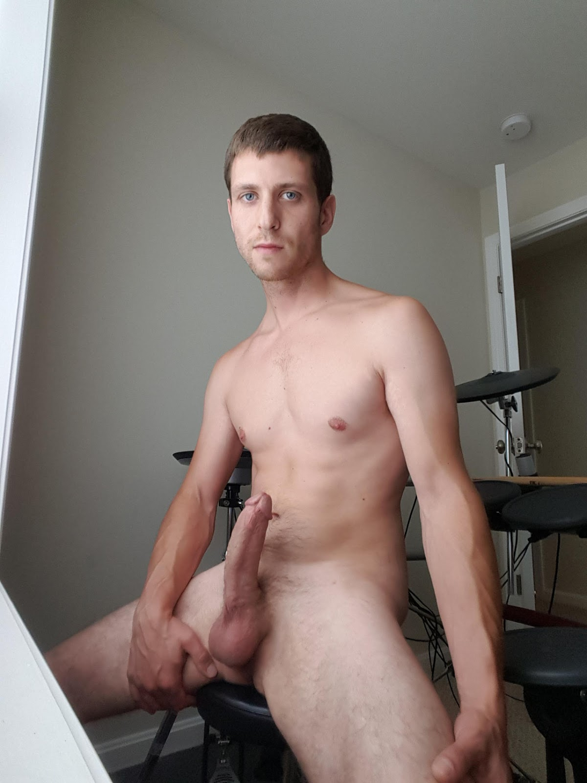 Smooth Young Guy Stuffs Ass With Boyfriends Stiff Bare Cock