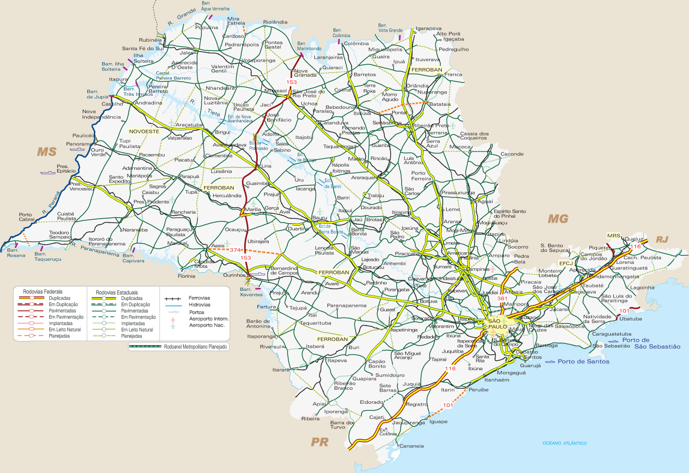 São Paulo | Mapas Geográficos de São Paulo