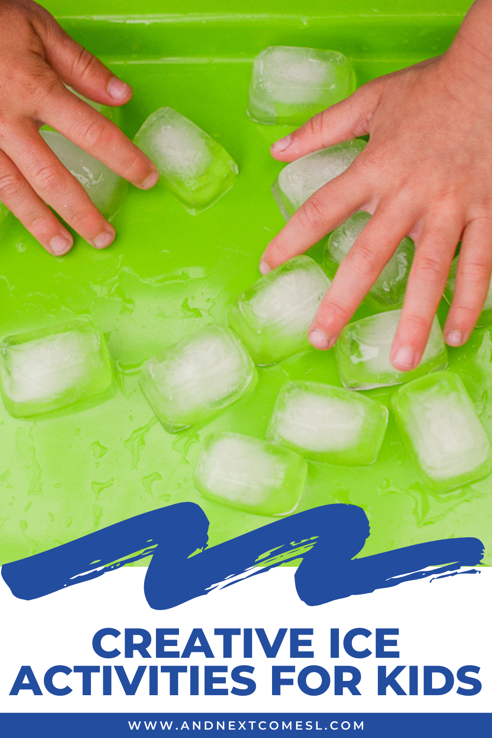 Creative & cool ice activities for toddlers and preschool kids - great sensory play ideas for summer!