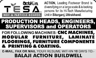 Balaji Action Buildwell Company Recruitment 10th, 12th Pass and ITI, Diploma Holders On Company Role in Sitarganj , Uttarakhand Plant