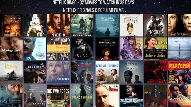 Netflix Bingo! 32 Recomendações de Filmes Para ver Na Netflix e Com as Quais Pode Fazer um Jogo Com os Amigos!