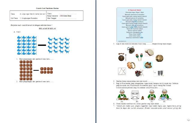 Soal Penilaian Harian (PH) Kelas 1 SD/MI: Tema 6