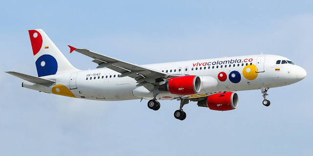 Image Attribute: A file photo of Viva Colombia, HK-5142 - Airbus A320-214