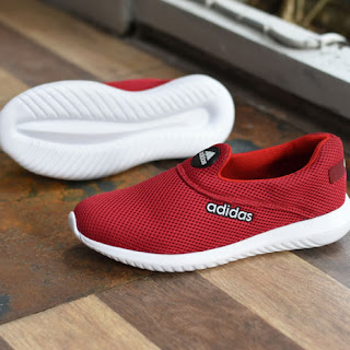 Sepatu Adidas Slip On Pria Wanita Merah