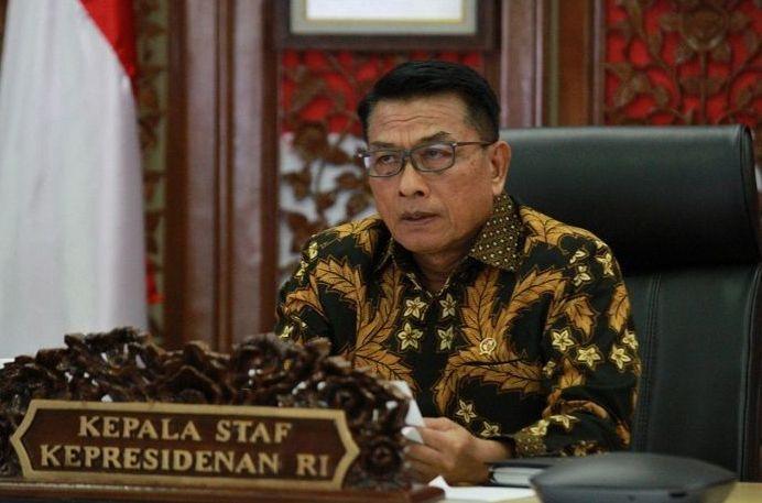 Geram Jokowi Disebut Bukan Panglima Tertinggi Penanganan Covid-19, Moeldoko: Jangan Bikin Soal Tak Penting!