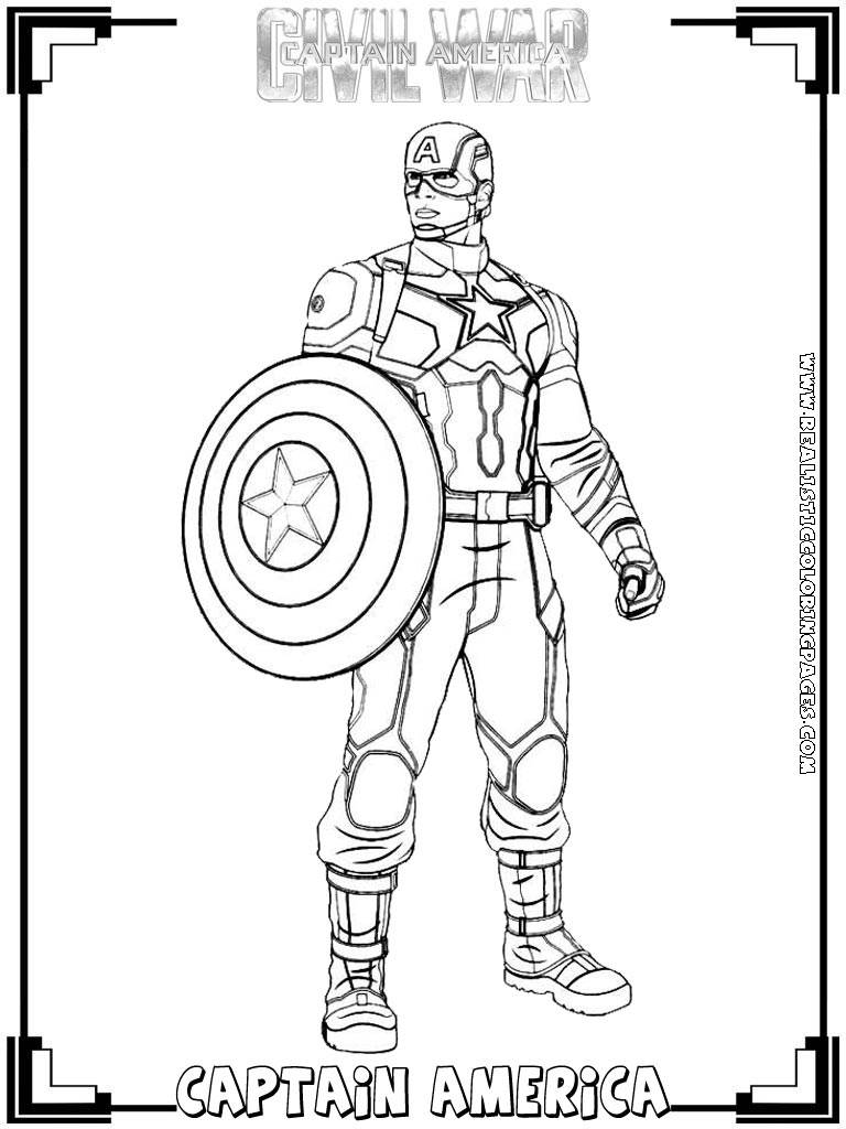 Captain america civil war printable coloring pages for Coloring pages captain america