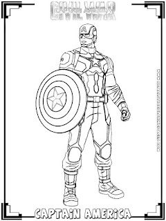 captain america civil war coloring pages