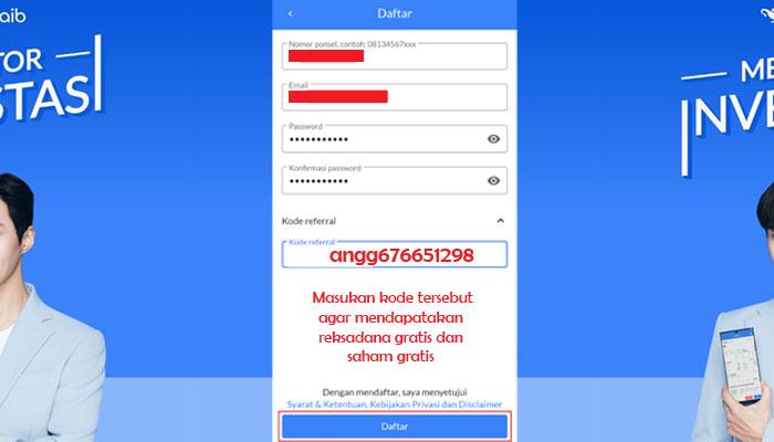 Registrasi Akun di Aplikasi Ajaib