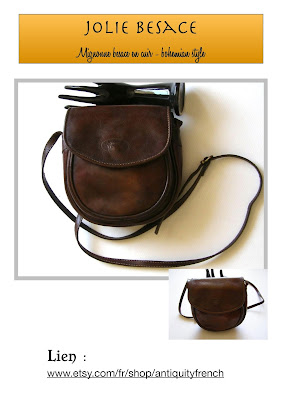 besace vintage,messenger bag,cuir épais,cuir patiné,vintage satchel bag,brown leather bag,sac cuir femme