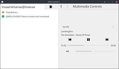 KDE Connect Multimedia Tools