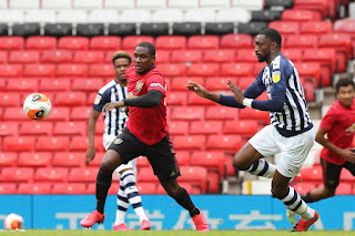 Ighalo reacts after facing Super Eagles defender in Man United friendlies match