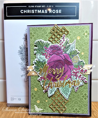 Christmastime is here, Christmas rose, Word wishes, Christmas cards, 2019 holiday catalogue, rhapsodyincraft, stampin' blends
