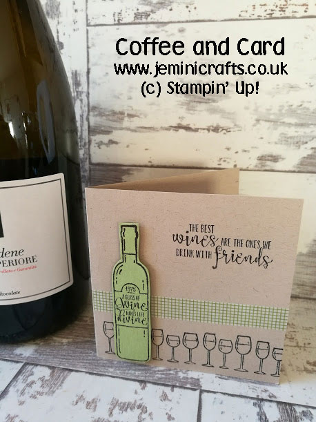 Glass half full? Use this great stamp set to create wine themed cards.