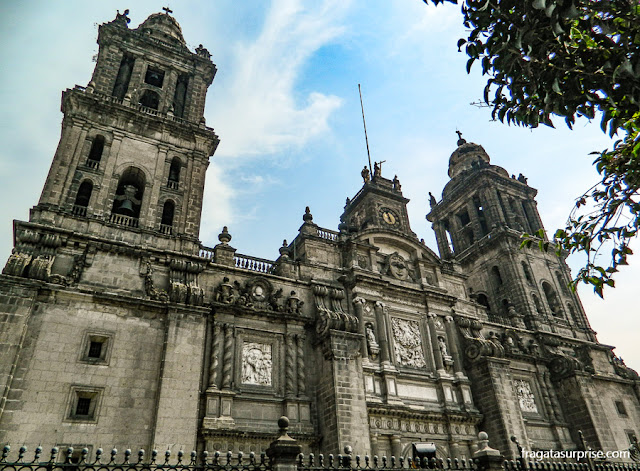 Fachada principal da Catedral da Cidade do México
