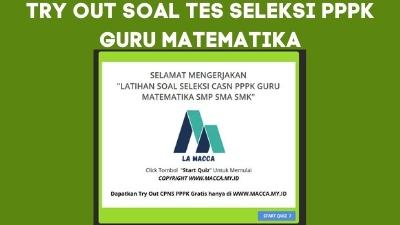 Tryout CPNS Online Gratis PPPK Guru MATEMATIKA