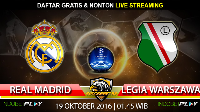 Prediksi Real Madrid vs Legia Warszawa 19 Oktober 2016 (Liga Champions)