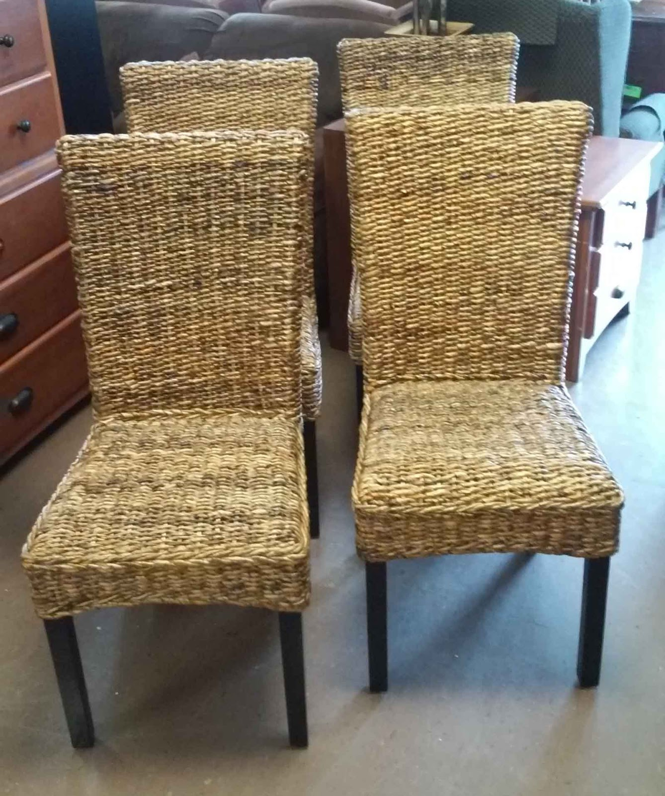 Sold classic concepts jute dining chairs 125 set of 4