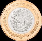 Reverso moneda de Veracruz