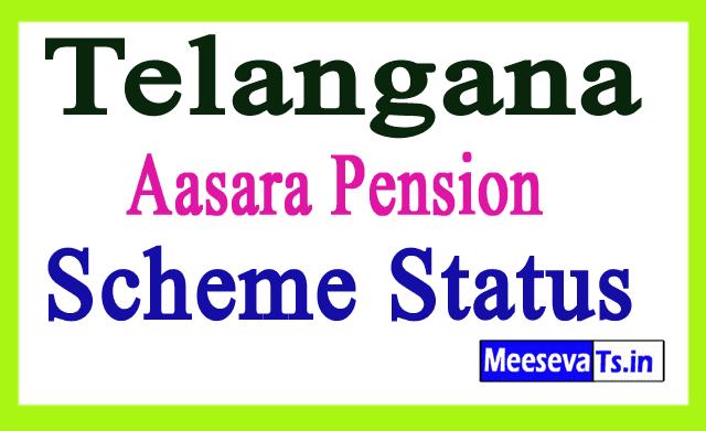 Telangana Aasara Pension Scheme Status
