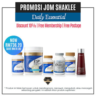 Promosi daily essential set shaklee disember 2019