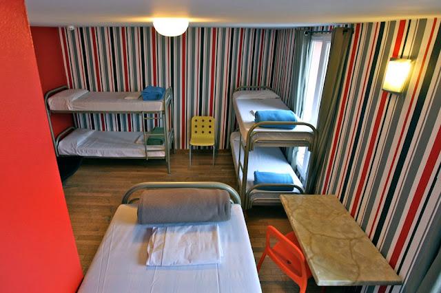 Quarto de hostel em Paris