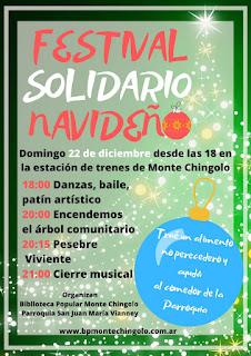 Festival Solidario Navideño y Pesebre Viviente Comunitario en Monte Chingolo