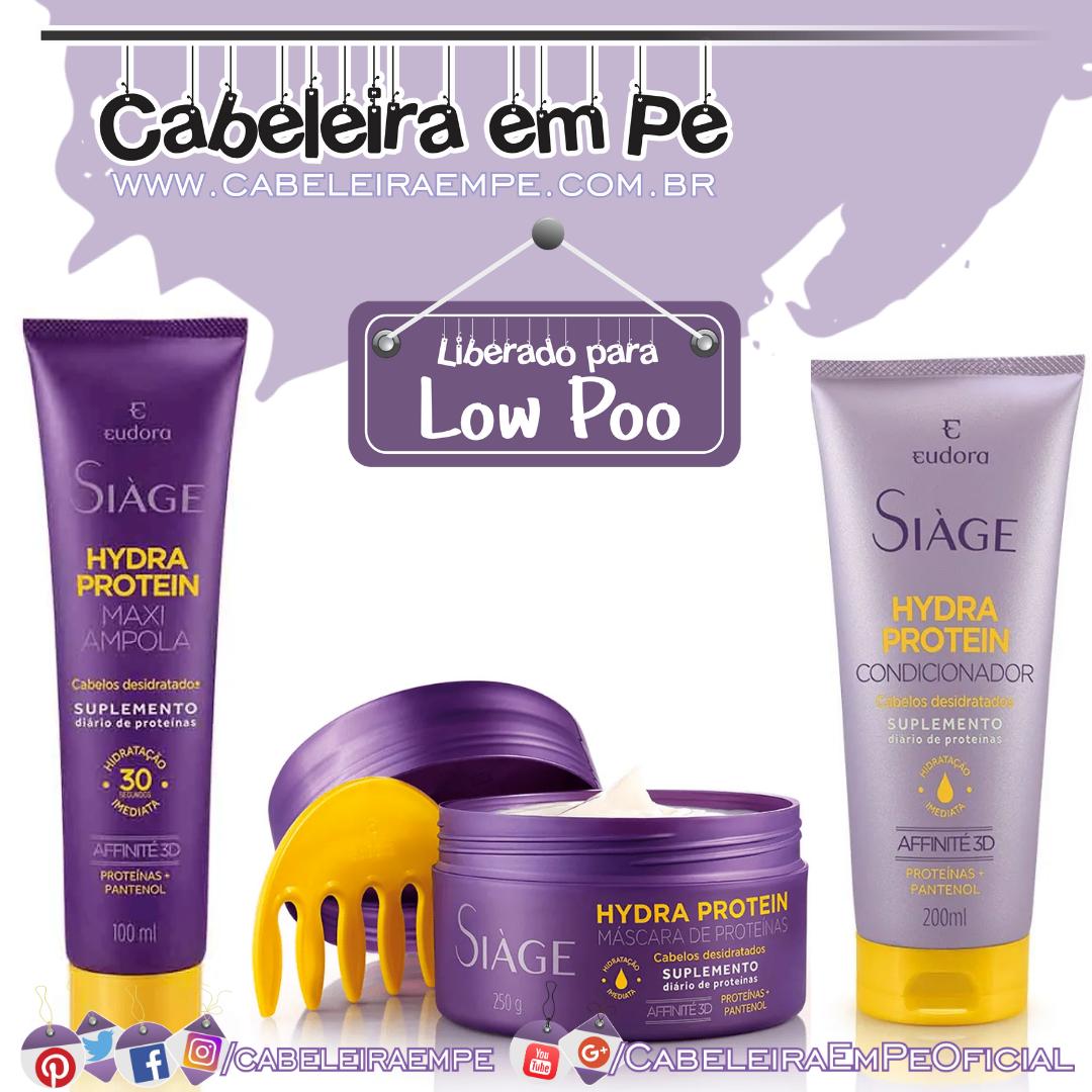 Condicionador, Máscara e Maxiampola Hydra Protein Siàge - Eudora (Low Poo)
