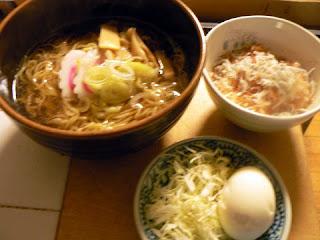 昔ながらのラーメンセット しらす鰹節飯+ゆで卵