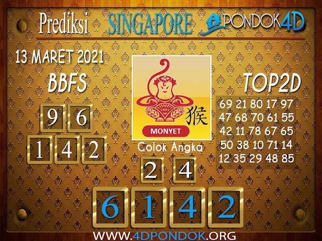 Prediksi Togel SINGAPORE PONDOK4D 13 MARET 2021